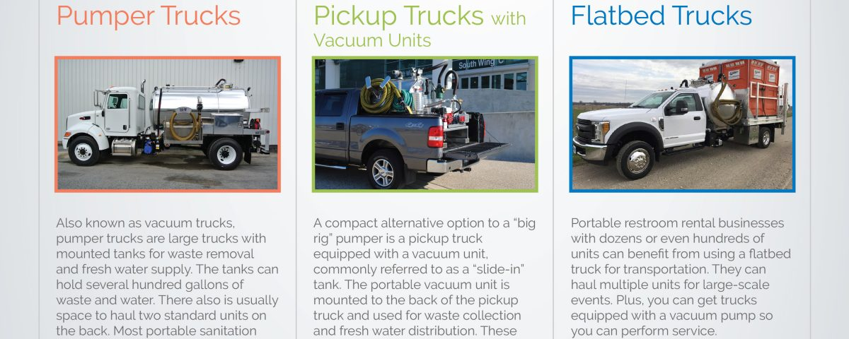 Comparing Trucks of the Portable Sanitation Industry