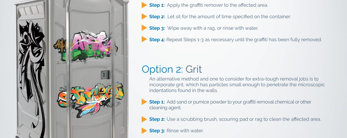 How to Remove Graffiti from Portable Toilets