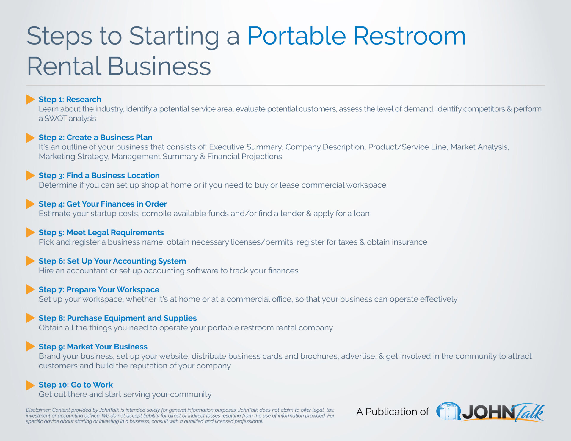 INFOGRAPHIC: Steps to Starting a Portable Restroom Rental