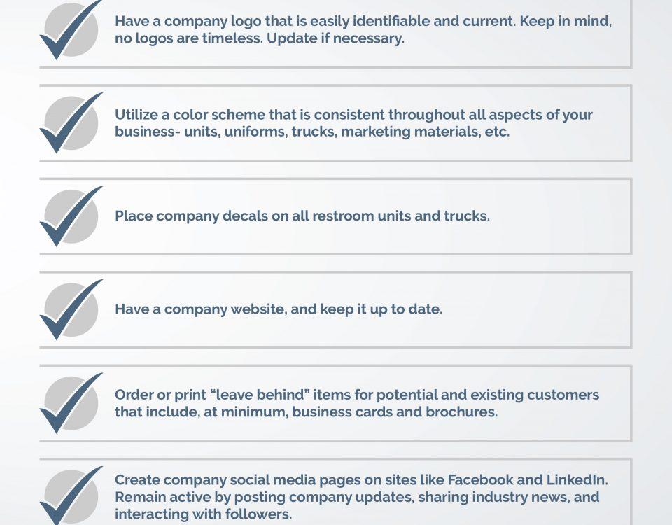 Portable Restroom Branding & Marketing Checklist