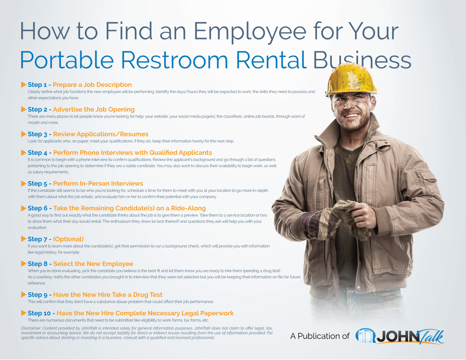 How to Find an Employee for Your Portable Restroom Rental Business
