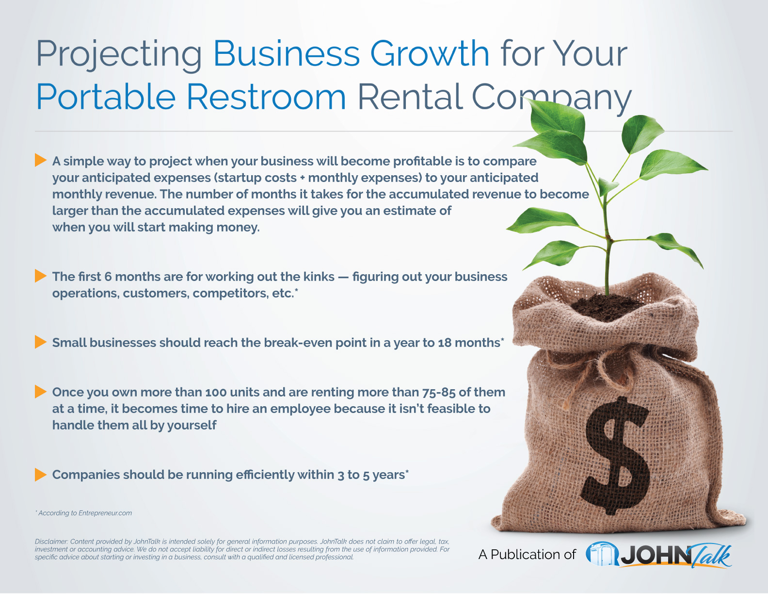Projecting Business Growth for Your Portable Restroom Rental Company
