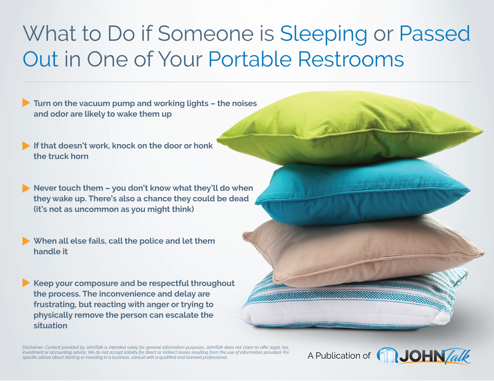 What to Do if Someone is Sleeping or Passed Out in One of Your Portable Restrooms