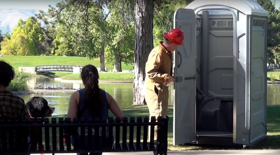 Here's How You Can Disappear in a Portable Restroom