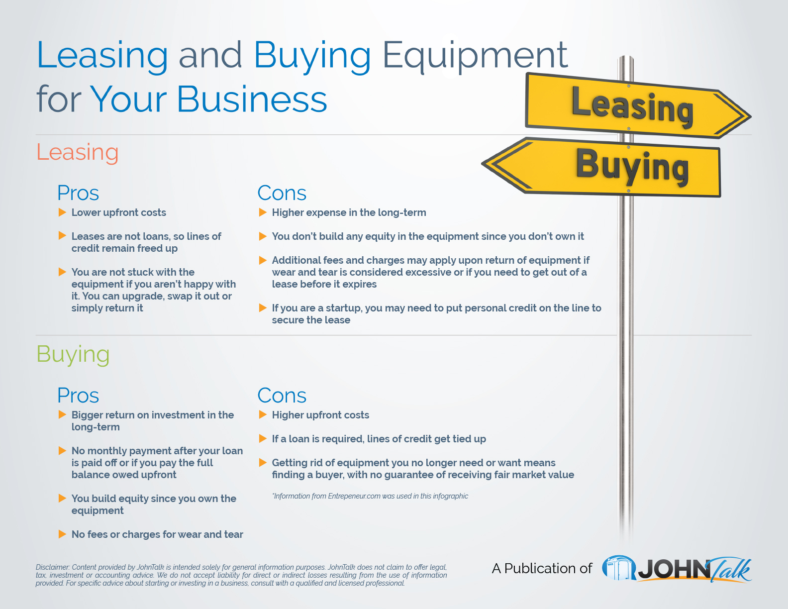 Leasing and Buying Equipment for Your Business