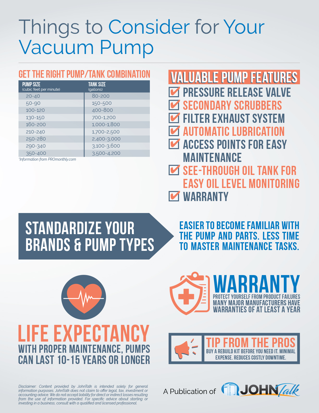 Things to Consider for Your Vacuum Pump