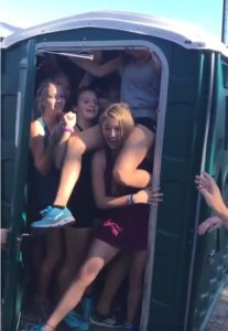#PortaPottyChallenge How Many People Can Fit Into a Porta-Potty