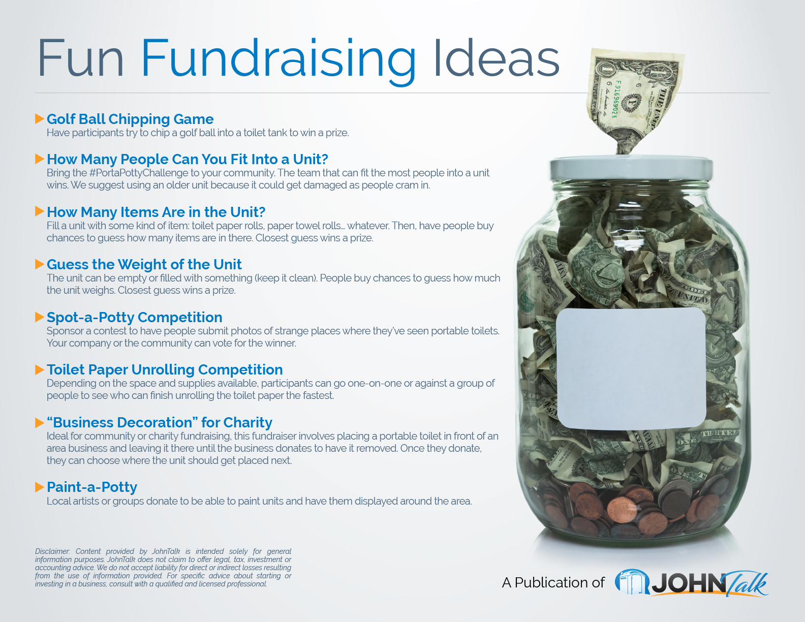 infographic fun fundraising ideas johntalk
