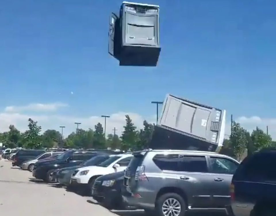 It's a Bird, It's a Plane, It's a... Porta-Potty