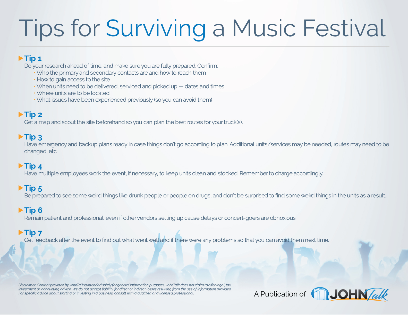 Tips for Surviving a Music Festival
