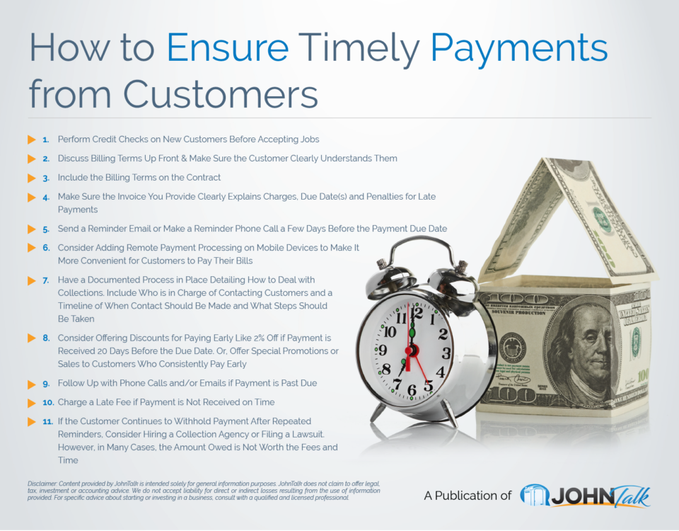 How to Ensure Timely Payments from Customers