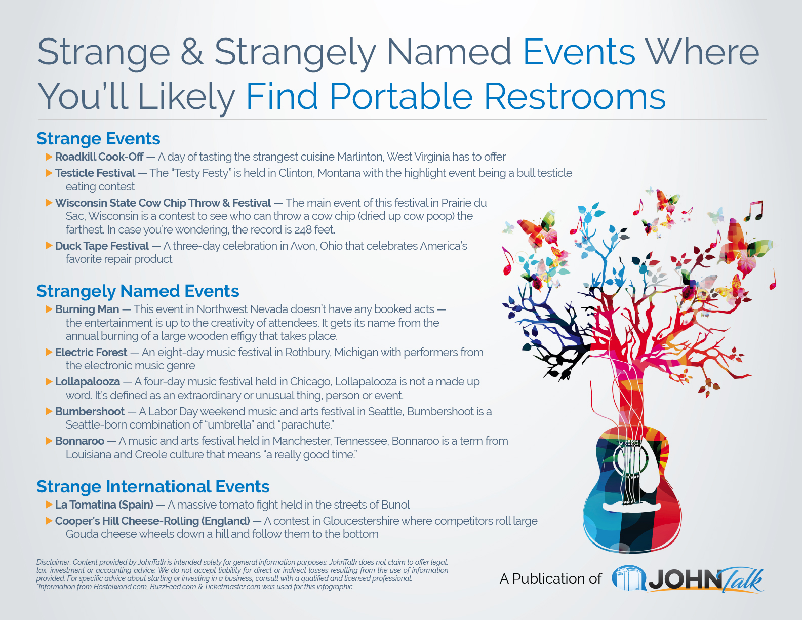 Strange & Strangely Named Events Where You'll Likely Find Portable Restrooms