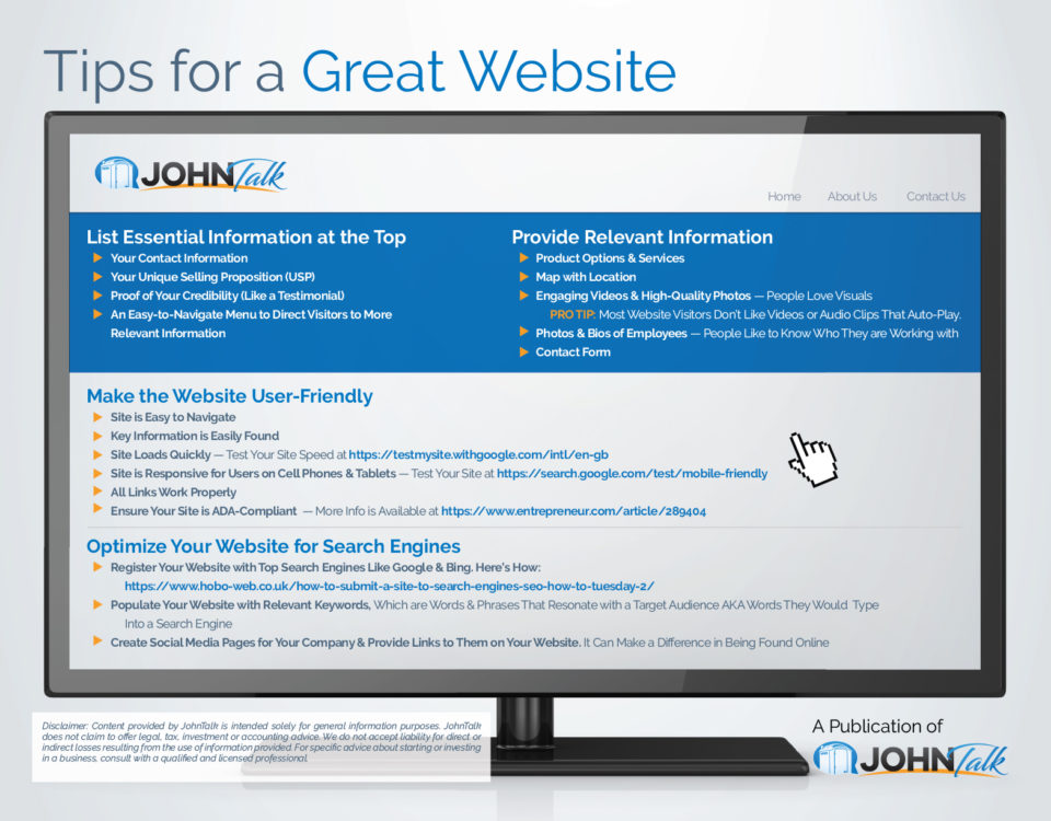 Tips for a Great Website