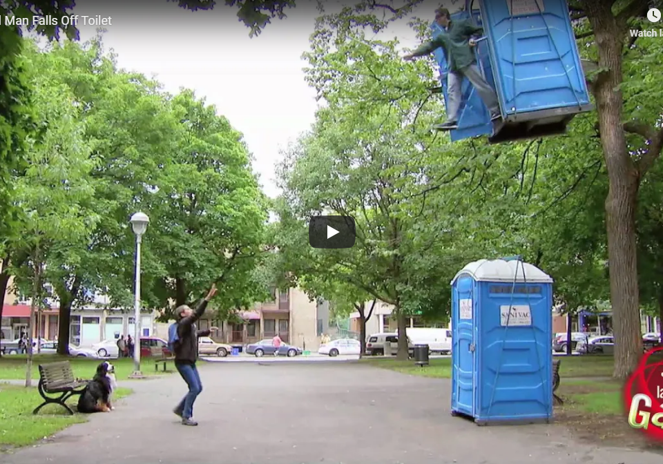 Lifted Porta-Potty Prank