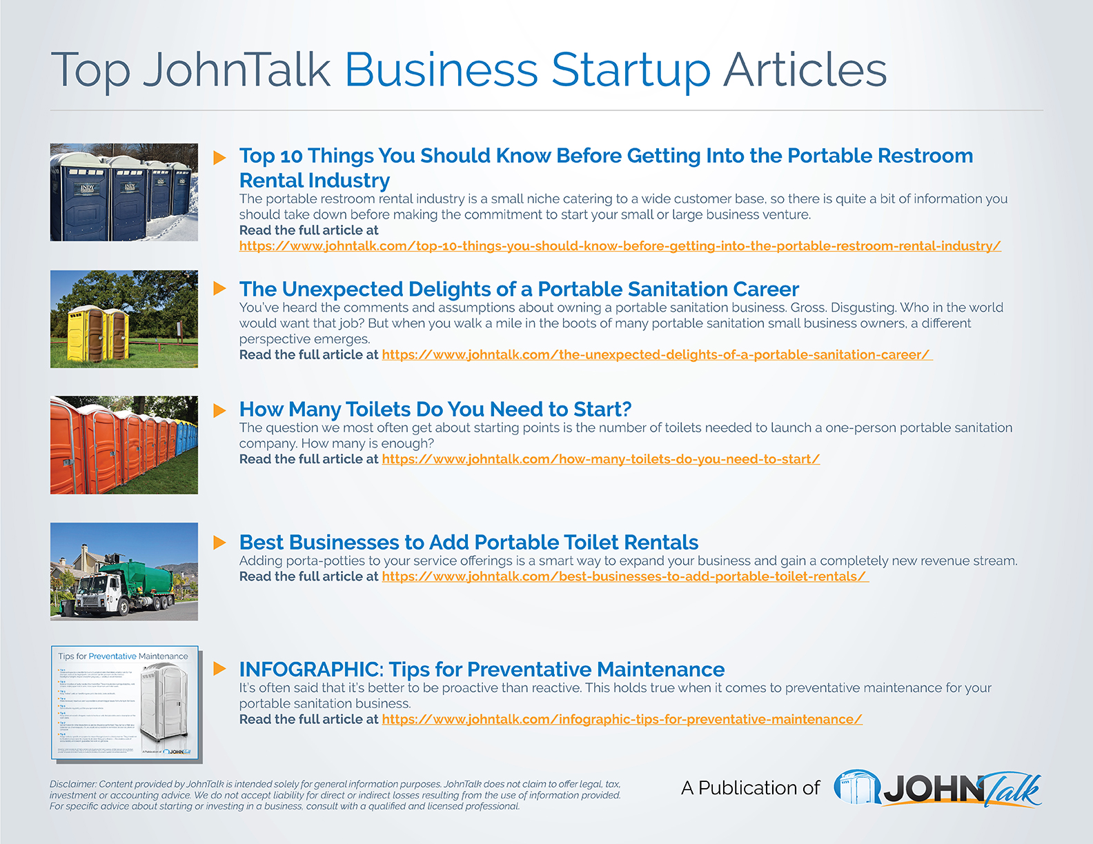 Top JohnTalk Business Startup Articles