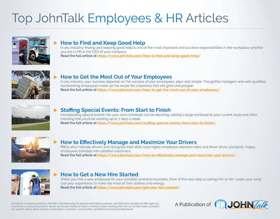 Top JohnTalk Employees & HR Articles