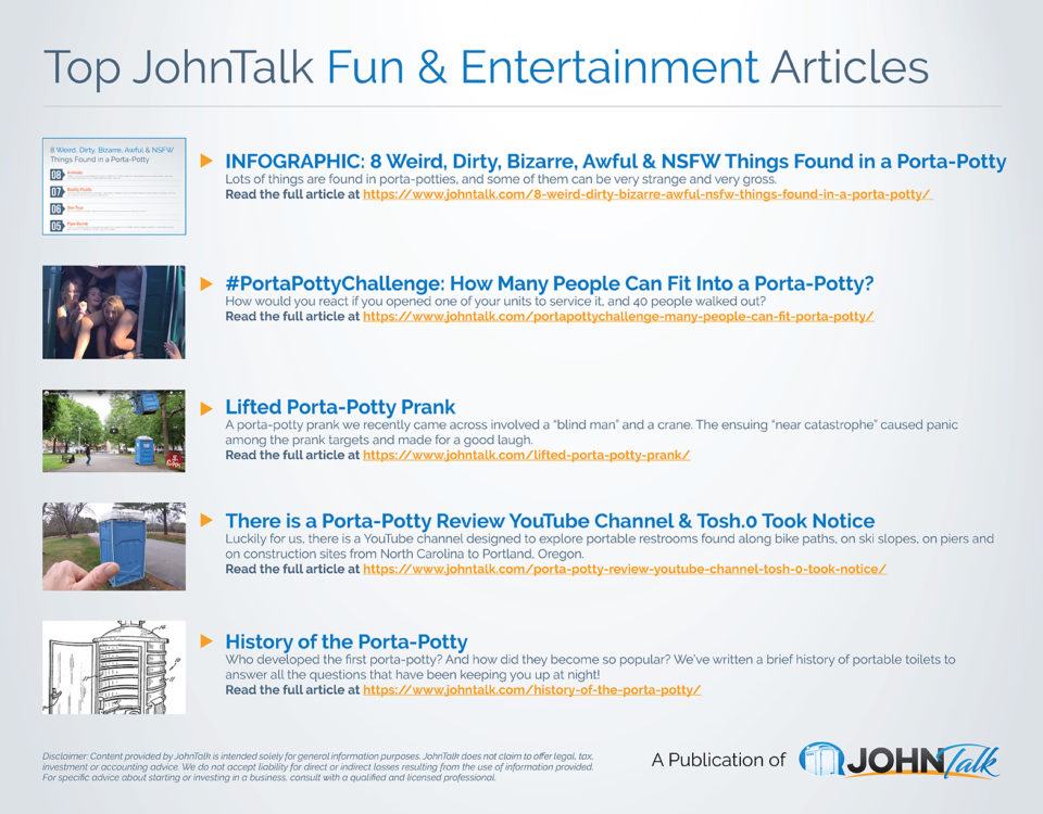 Top JohnTalk Fun & Entertainment Articles