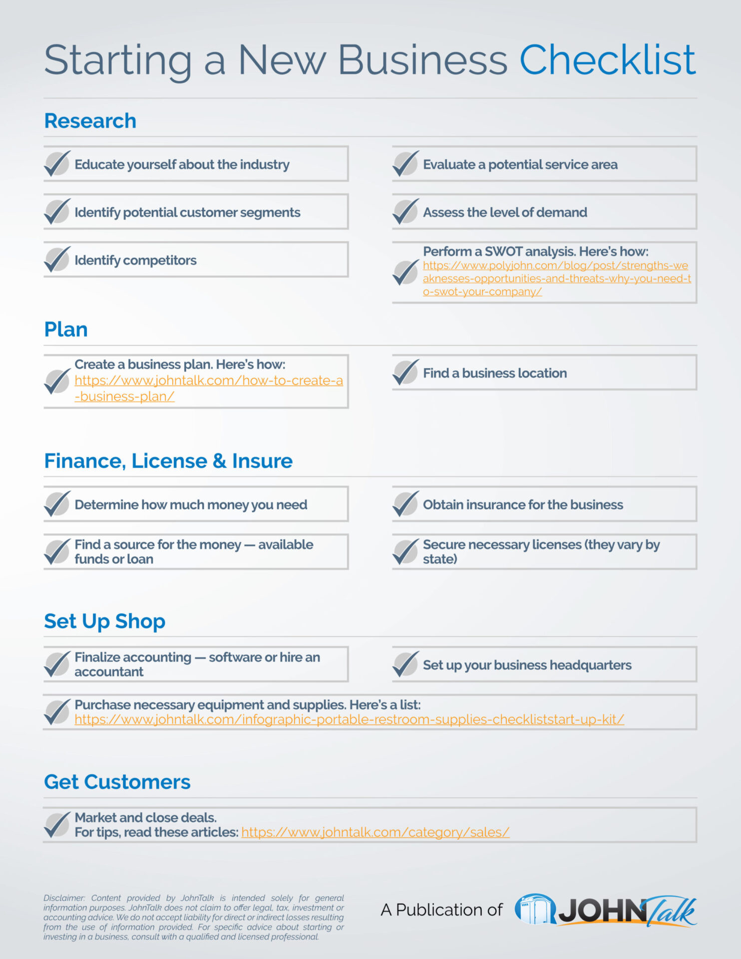 Starting a New Business Checklist