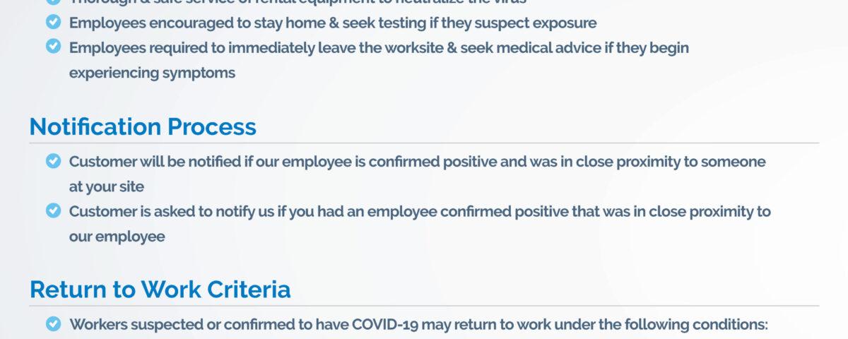 COVID-19 Response Checklist for Customers